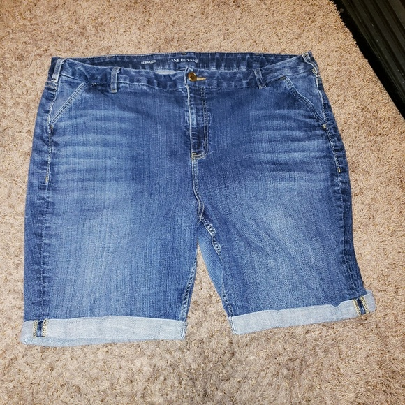 Mixed Intimate Items 2019 Fashion Womens Lane Bryant Blue Jean Bermuda Shorts Denim Plus Size 22 In Euc